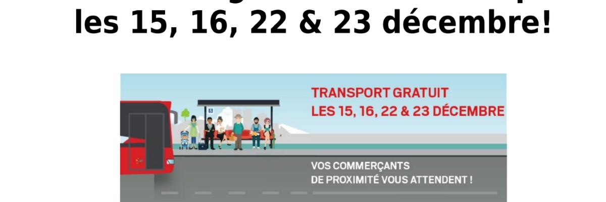 Gratuité du réseau des transports publics ENVIA