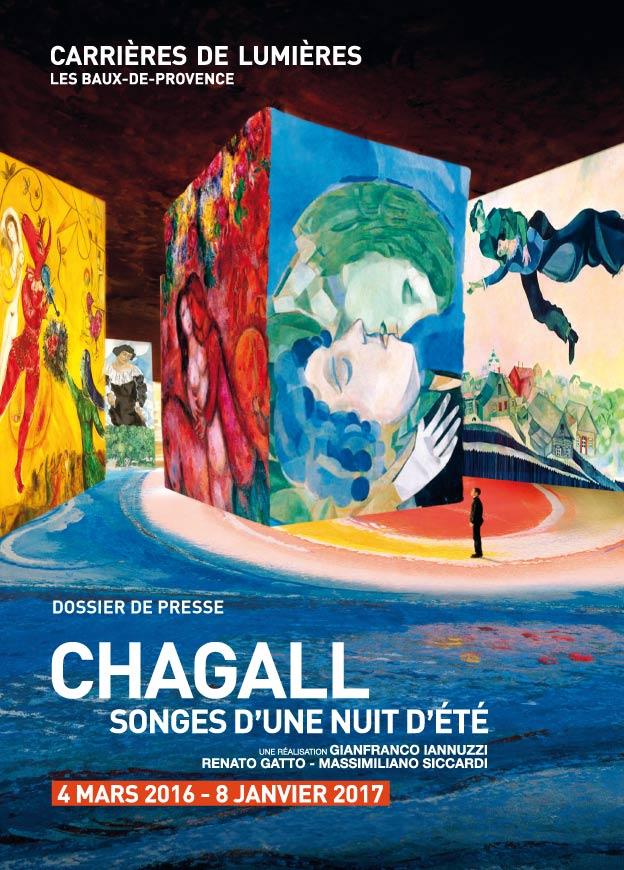 Exposition Chagall Carrière de Lumieres